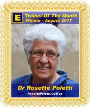 GoE Trainer of the Month - August 2017