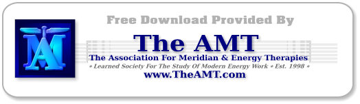 Free Downloads on EFT, Energy Psychology & Meridian Energy Therapies Provided by Theamt