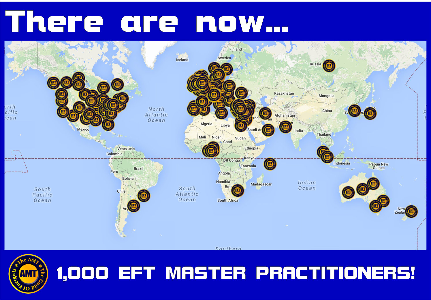 1000 EFT Master Practitioners Map