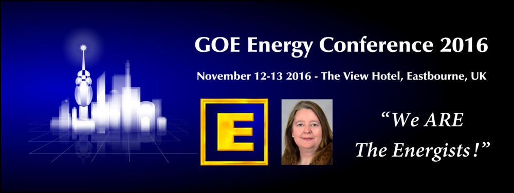 GoE Energy Conference 2016 - BOOK NOW!