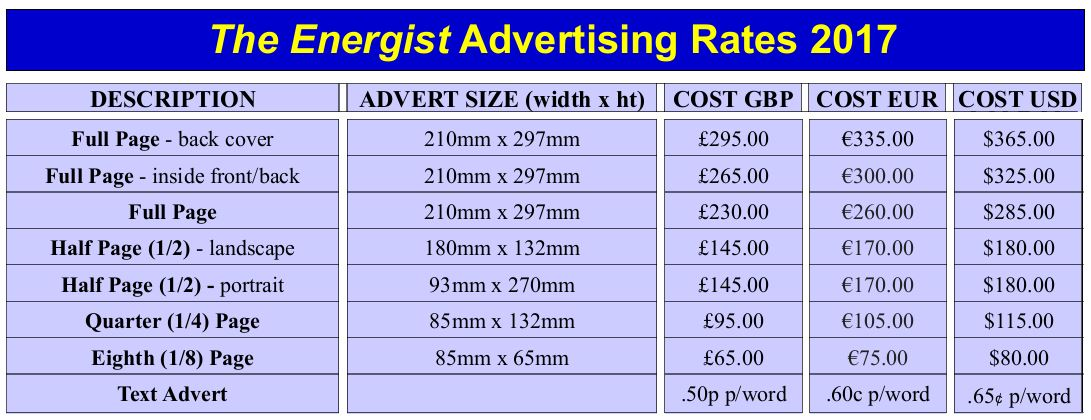 Energist Advertising Rates