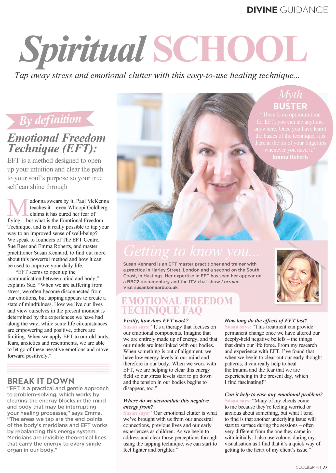 Soul And Spirit Magazine EFT Article by Susan Kennard