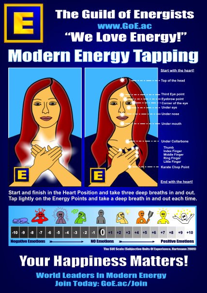 GoE Modern Energy Tapping A4 Sheet by Silvia Hartmann