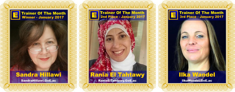Trainer of the Month - January 2017