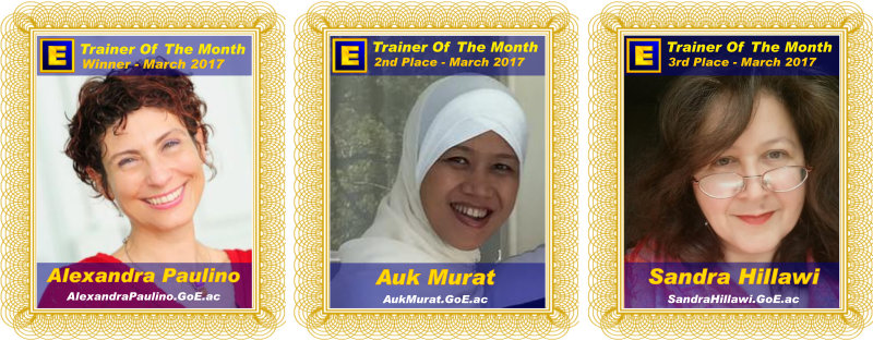 Trainer of the Month - March 2017