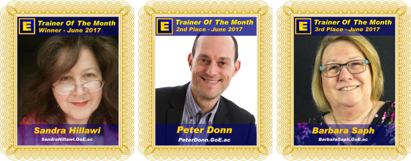 Trainer of the Month - June 2017
