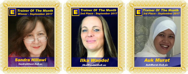 Trainer of the Month - September 2017