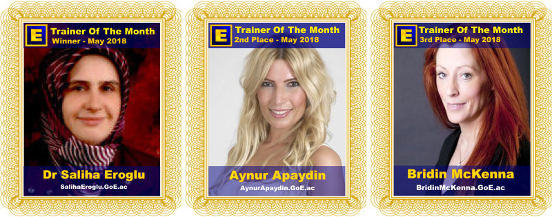 GoE Trainer of the Month - May 2018