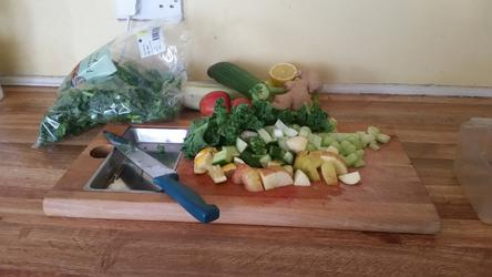 Making vegetable juice