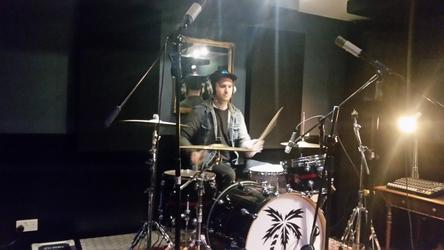 Nick Bowen on drums