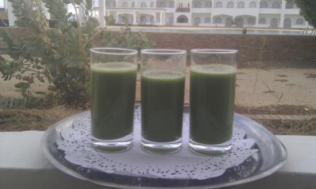 Green juices laced with fruit to help it down!