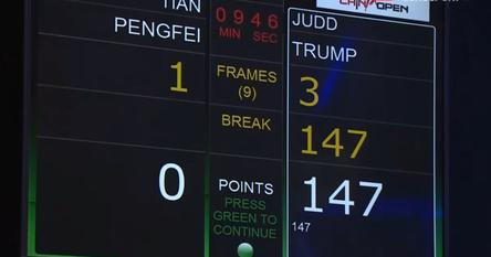 Judd Trump 147 China Open Scoreboard