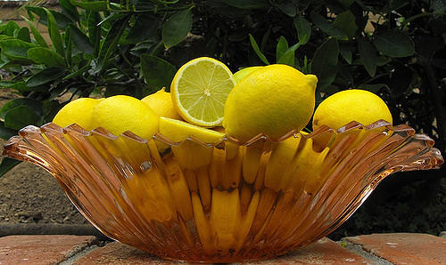 Bowl of lemons - a magic energy fountain!