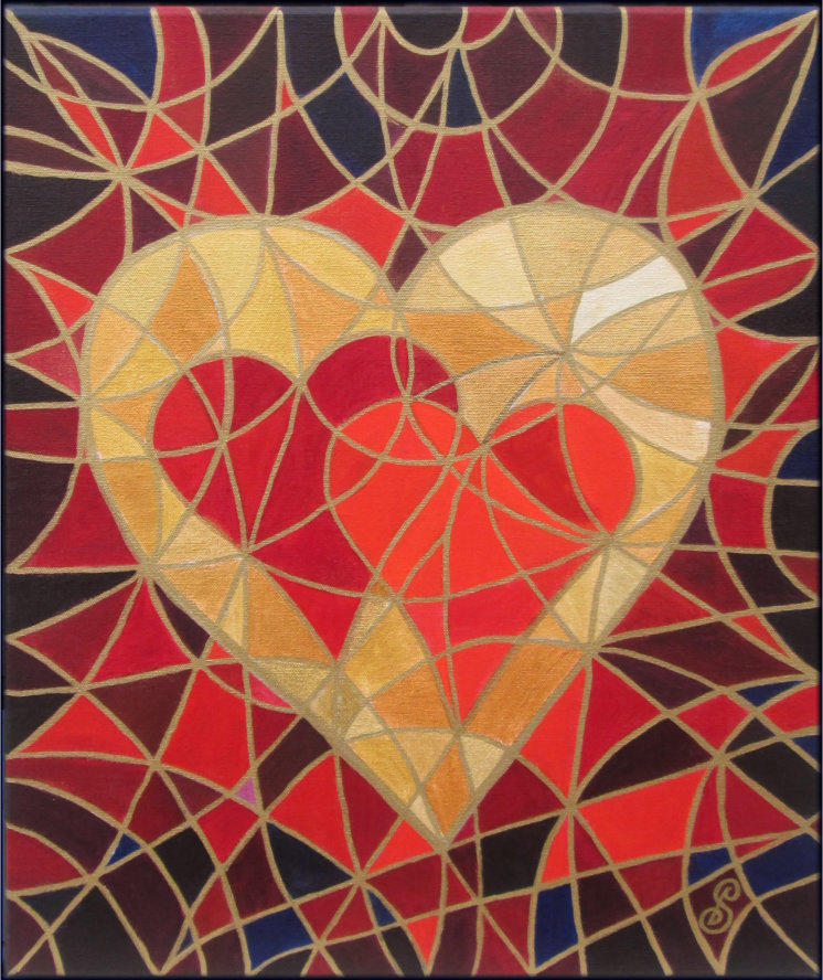 Art Solutions Symbol Painting Make Love Your Goal by Silvia Hartmann
