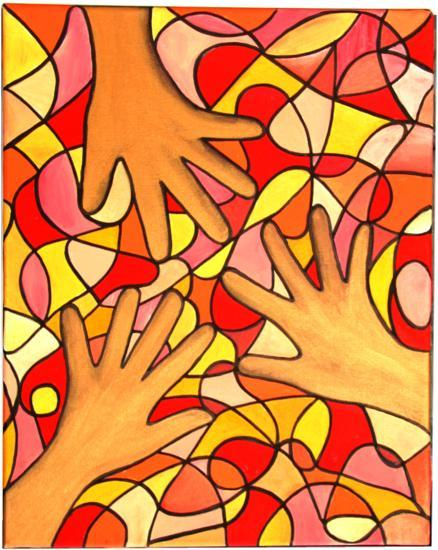 Healing Hands Illustration by Silvia Hartmann for Healing Hands entry