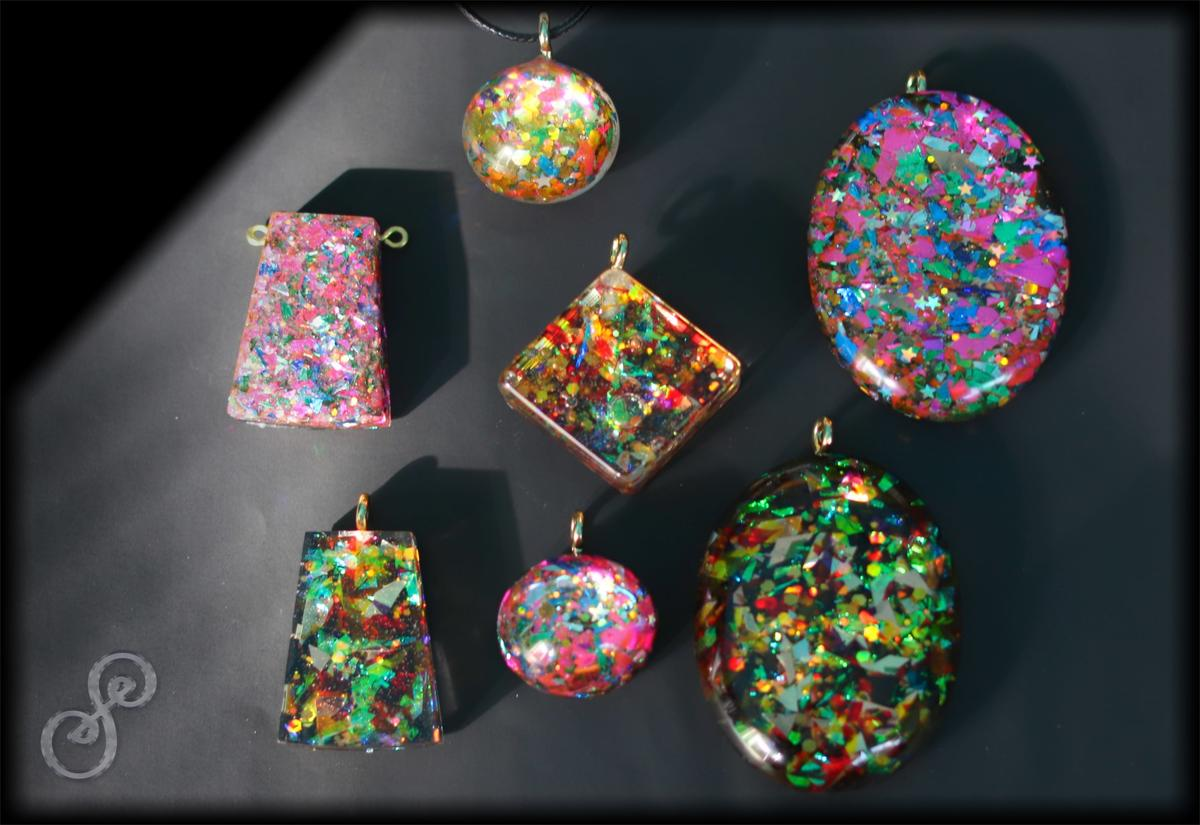 7 Lucky Charms - wearable Modern Energy Art by Silvia Hartmann