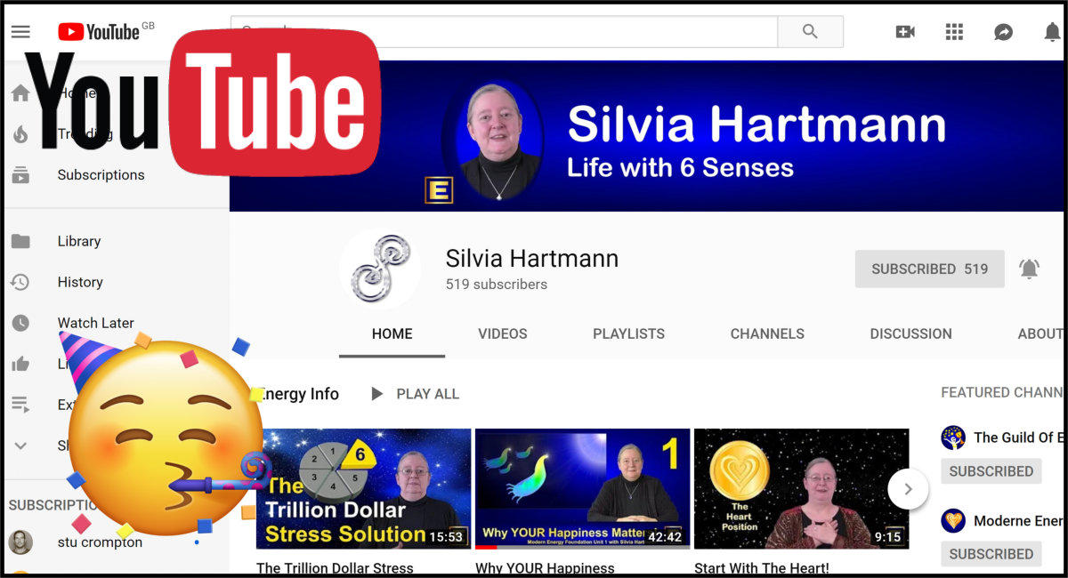 🎉 Silvia Hartmann's YouTube Channel Surpasses 500 Subscribers!