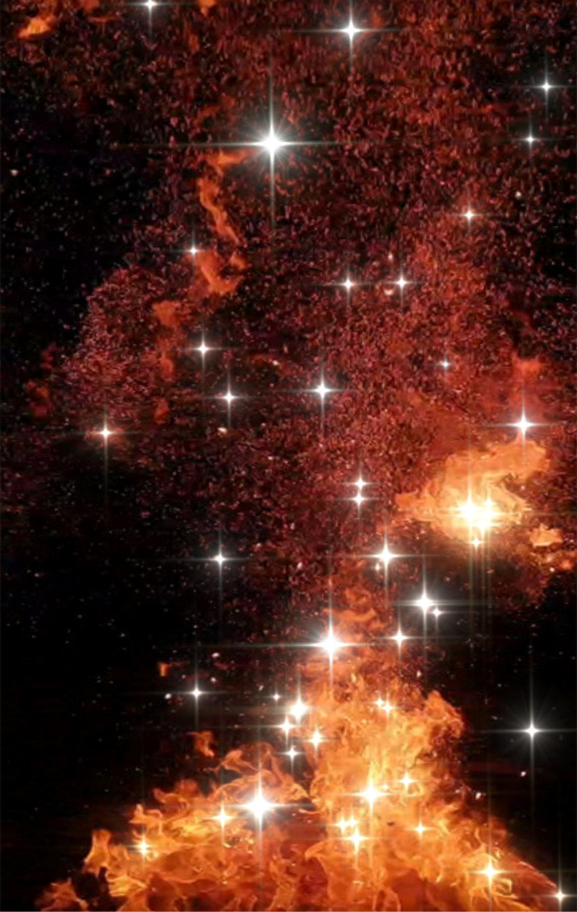 Fire giving birth to stars