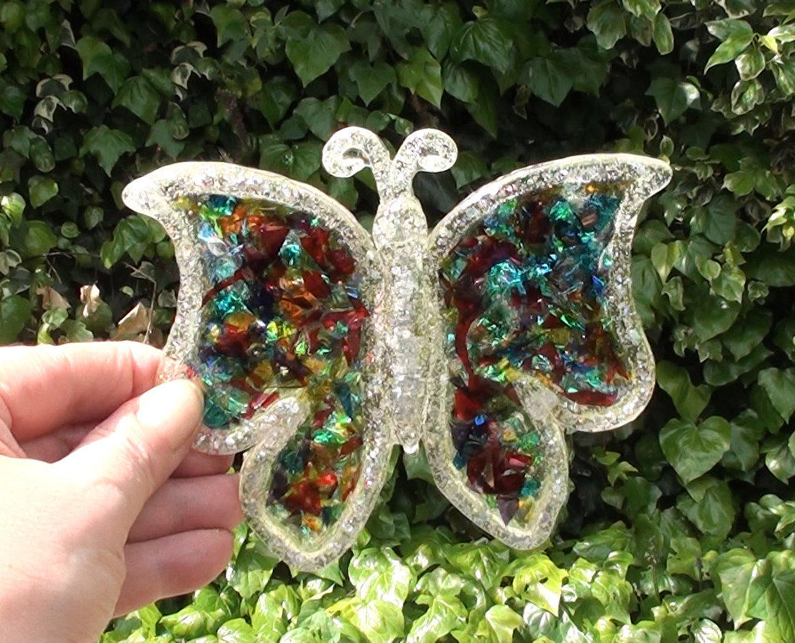 Sparkly butterfly in the garden
