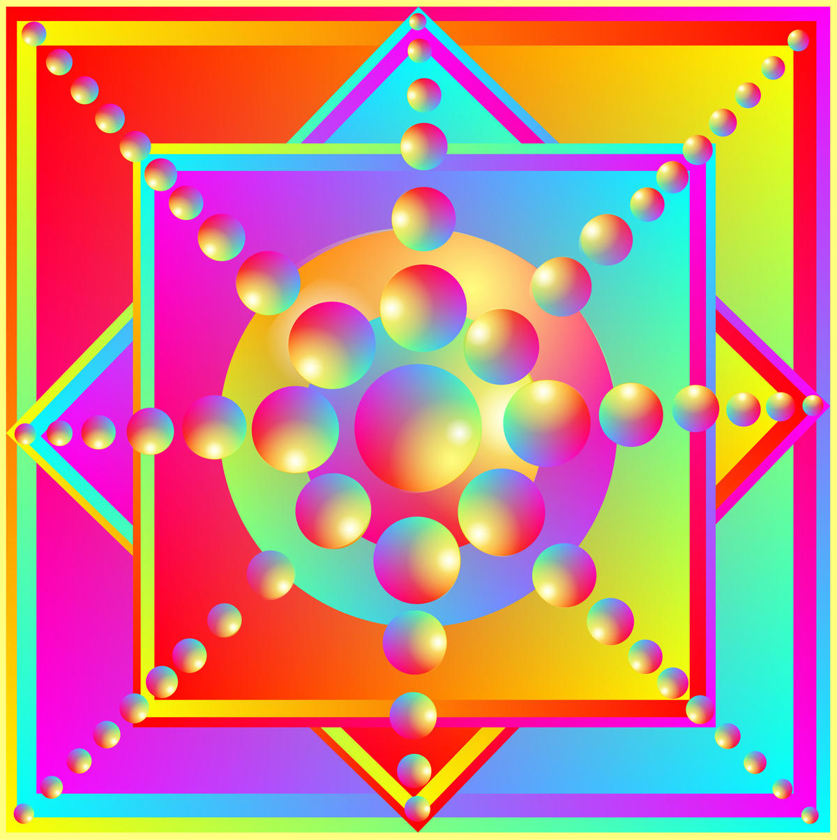 Symbol for Luck & Happiness Digital Energy Art by Silvia Hartmann