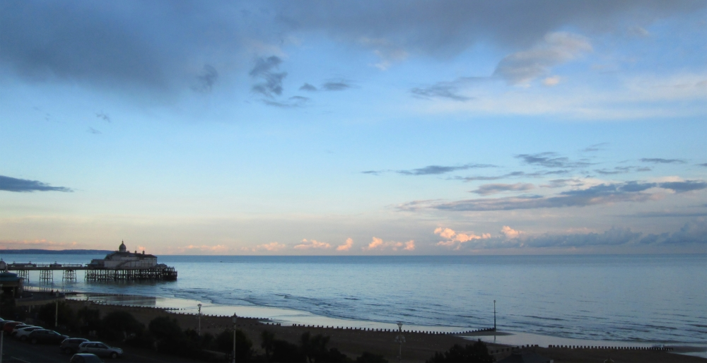 Eastbourne Pier and beach at sunset by Silvia Hartmann
